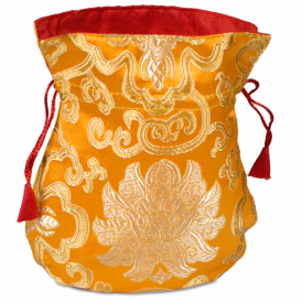 Mala Brocade Lotus Bag - Orange (19cm x 16cm)