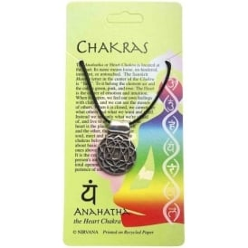 Pewter The Anahatha or Heart Chakra Pendant Necklace