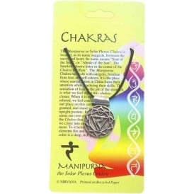 Pewter The Manipurna Solar Plexus Chakra Pendant Necklace