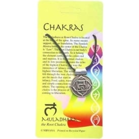 Pewter The Muladhara or Root Chakra Pendant Necklace