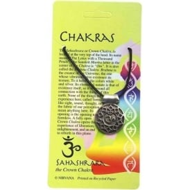 Pewter The Sahashrara or Crown Chakra Pendant Necklace