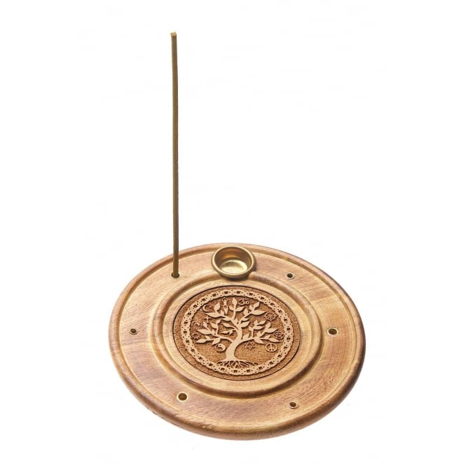 Tibetan Spirits Tree Of Life Incense Sticks & Cones Burner Stand (10cm)