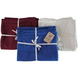Hand Woven Cotton Yoga Blanket - Burgundy