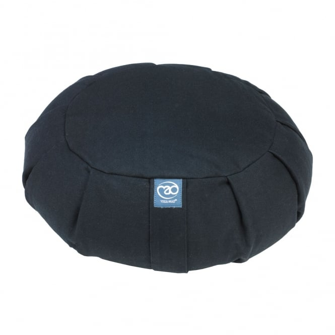 Yoga Mad Pleated Round Zafu Buckwheat - Black