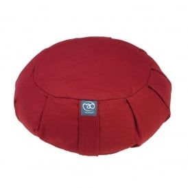 Pleated Round Zafu Buckwheat - Bordeaux
