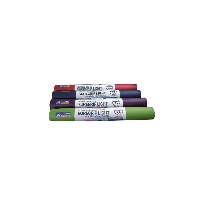 Yoga Mad SureGrip Travel Yoga Mat 2mm Blue